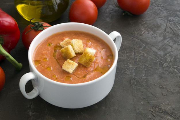 andalusian gazpacho with olive oil