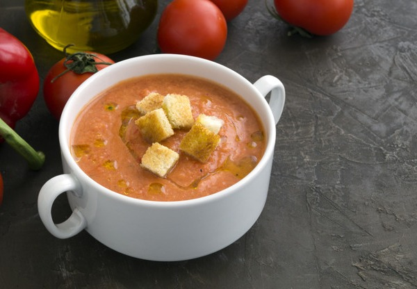 Andalusian gazpacho with extra virgin olive oil